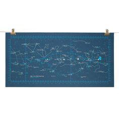 Apollo 11 TLC Star Chart Screen Print Poster