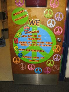 Cute for classroom. Emily would love this because it's peace signs.