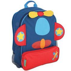 Amazon.com: Stephen Joseph Sidekick Airplane Backpack - School Backpacks: Clothing $24