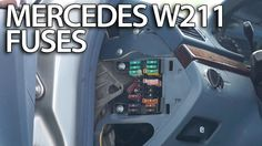Where are #fuses and relays in #Mercedes-Benz #W211 (fusebox location) E-Class #cars