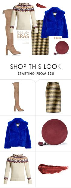 """""""Layer over Chunky Sweater'"""" by dianefantasy ❤ liked on Polyvore featuring Stuart Weitzman, Boden, MSGM, Diane Von Furstenberg, Loewe, By Terry, polyvorecommunity, fauxfur and polyvoreeditorial"""