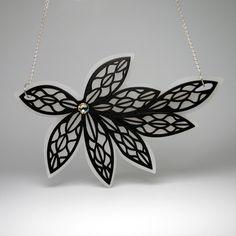 Laser Cut Acrylic Flower Necklace - IntoIt Series