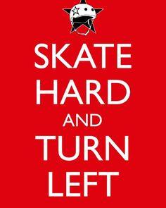 Skate hard and #turnleft  #AK #Alaska #ragecity #skatehard #rollerderby #derbylife #inspiration #allstars #orangecrush by ragecityrollergirls