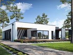 DOM.PL™ - Projekt domu PPE PRZEJRZYSTY D27 CE - DOM EG1-19 - gotowy koszt budowy Modern Tiny House, Small House Design, 1 Story House, Home Design Plans, Home Fashion, Cabana, My House, Exterior, Mansions