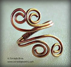 Easy Adjustable Spiral Ring Tutorial #jewelrymaking #jewelryartist