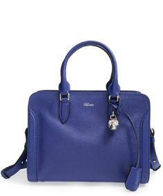 Alexander McQueen 'Small Padlock' Leather Duffel Bag