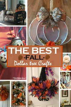 With nothing but time and a small budget we can have the best fall dollar tree crafting home decor around. Something you and the whole family can enjoy doing together. Grab your goodies needed early at the Dollar tree