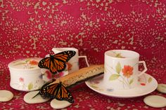 Just Flowers Mikasa Bone China  Coffee or tea with my friends.