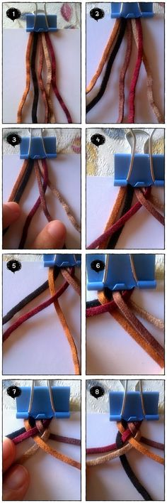 El Baúl de la Urraca: Pulsera trenzada de 5 cabos / 5 strands braided bracelet
