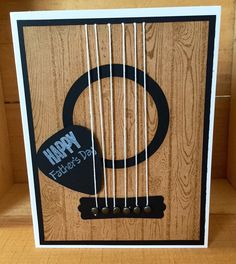 Happy Father's Day| Guitar Card for Dad, blank card inside by CreativeCraftCo on Etsy https://www.etsy.com/listing/234660831/happy-fathers-day-guitar-card-for-dad