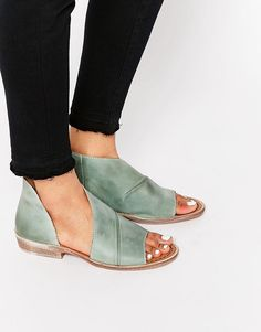 Free People Mont Blanc Mystic Blue Peep Toe Sandals