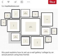 Mur de cadres disposition et dimension des cadres dans - Disposition cadre photo mur ...
