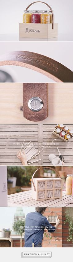 beebnb - sixpack that turns into a #bee hotel with straws - packaging design by BBDO Germany - http://www.packagingoftheworld.com/2016/09/beebnb.html