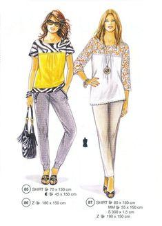 Lutterloh patterns supplement pants with zippered pocket, dressier tee shirts