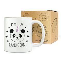 I'M A PANDICORN LICORNE 325.3ml TASSE - Drôle Panda Fantaisie Thé Café Céramique