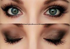 eyeshadows Makeup Geek: Vanilla Bean, Shimma Shimma, Brown Sugar, Corrupt. Mascara Maybelline Colossal Smoky Eyes, Arabian Kohl. Catrice eyebrow set
