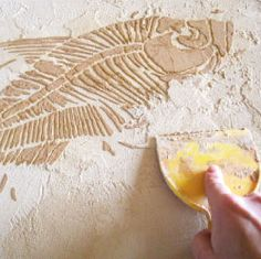 Dimensional stenciling Instructions. Learn how to 3D stencil with raised plaster. Fossil stencils