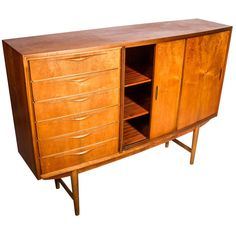 A Teak Sideboard | From a unique collection of antique and modern sideboards at http://www.1stdibs.com/furniture/storage-case-pieces/sideboards/