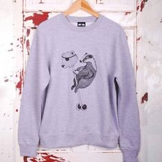 Badger Rules the Playground Sweatshirt #badger #playground #illustration #art #screenprinting #handmade