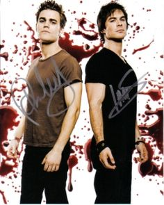 tvd damon stefan autograph - the-vampire-diaries Photo