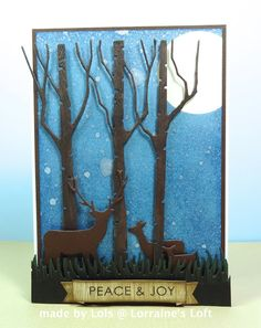 Christmas Card using Memory Box and Simon's Exclusive Dies