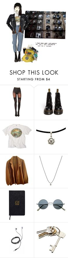 """""""Idk II"""" by n-fairchild ❤ liked on Polyvore featuring Pretty Polly, Dr. Martens, Kara, American Apparel, ASOS, Nomadic, Diane Von Furstenberg and CB2"""
