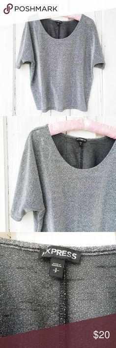 Express Metallic Batwing Top ★ EUC  ★ Measurements available upon request. ★ Reasonable Offers Accepted ★ No Trades ★ No Modeling Express Tops Tees - Short Sleeve