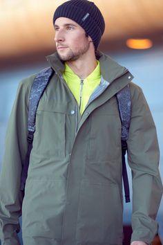 Alvra Hooded Hardshell Jacket for Men Jacket Men, Hooded Jacket, Rain Jacket, Freedom Of Movement, Urban Chic, Hoods, Windbreaker, Lifestyle, Jackets