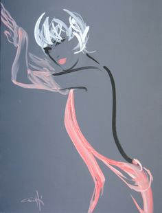 Odette - Synthetic Polymer Paint On Canvas MICHEL CANETTI