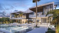 Modern Villa designed by Kristina O. Bråteng and the architect and construction team at By Nok who's offices are currently in Marbella and Madrid. This property is situated on a plot of 1500 m² with 1160 built m², 5 bedroom, 6 bathrooms and 1 guest toilets.