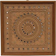 Mudwork Crafts By Majikhan Mutva Engineered Wood Kutchi Lippan Mud Work and MDF Wall Frame x 30 x 6 cm, Brown) Mirror Artwork, Mirror Painting, Ceramic Painting, Wooden Wall Art Panels, Panel Wall Art, Clay Wall Art, Clay Art, Henna Canvas, Indian Arts And Crafts