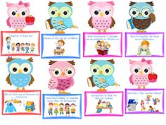 """Cute Owl"" Class rules - New Deko Sites Owl Classroom, Classroom Rules, Classroom Organization, Preschool Education, Kindergarten Crafts, Preschool Crafts, Class Rules, School Labels, School Grades"