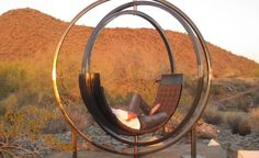 Etazin   A Sculptural Rotating Lounge Chair by Kate Brown