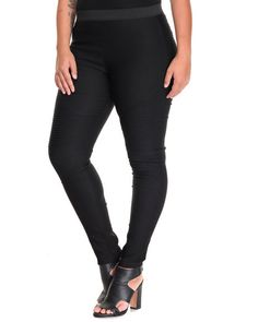 Find Hotness Moto Skinny Pant (Plus) Women's Bottoms from SHINESTAR & more at DrJays. on Drjays.com