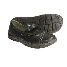 Earth Medley Mary Jane Shoes - Leather (For Women) in Black