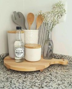 Handmade Home Decor Apartment Kitchen, Home Decor Kitchen, New Kitchen, Awesome Kitchen, Kitchen Ideas, Kitchen Corner, Kitchen Countertop Decor, Kitchen Inspiration, Kitchen Interior