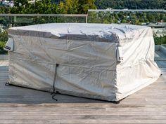 Smarte oppbevaringsløsninger for plasskrevende uteprodukter - Bag'in Outdoor Furniture, Outdoor Decor, Ottoman, Home Decor, Decoration Home, Room Decor, Home Interior Design, Backyard Furniture, Lawn Furniture