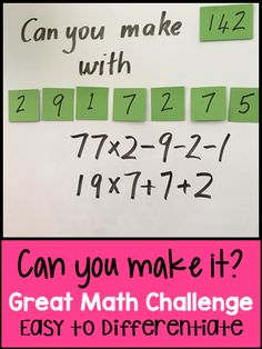 What is Mental Math? Well, answer is quite simple, mental math is nothing but simple calculations done in your head, that is, mentally. Maths Guidés, Maths Puzzles, Math Classroom, Fun Math, Teaching Math, Teaching Multiplication, Math Fractions, Math College, Grade 6 Math