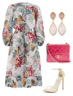"""""""Untitled #689"""" by lovelifesdreams on Polyvore featuring Zimmermann, Chanel, Stuart Weitzman and Dina Mackney"""
