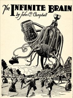 more Frank R. Paul science fiction art -- He provided the bright, eye-popping imagery for Hugo Gernsback's vision of science fiction, and his art from the 1920s still feels fresher than a lot of the stuff being created today.