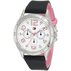 Tommy Hilfiger Women's 1781175 Sport Stainless Steel and black Silicon Sport Watch - - Upgrade to style and sophistication with this elegant Tommmy Hilfiger watch. Boasting a stunning stainless steel c Tommy Hilfiger Watches, Tommy Hilfiger Top, Dream Watches, Sport Watches, Women's Watches, Watches Online, Wrist Watches, Brand Name Watches, Amazing Watches
