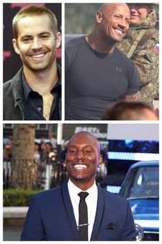 """Love these men, Paul Walker, Tyrese Gibson, Dwayne """"The Rock"""" Johnson! Fast and Furious 6"""