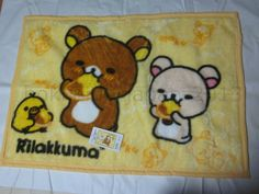 New Rilakkuma Blanket San-X 2016 Fluffy Korilakkuma Yellow Bird Japan F/S #SanX