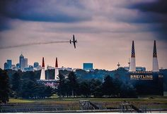 From our friends at VisitIndy  @visitindy - And just like that the historic oval is ready for an air race. Comment  if you're going to the inaugural @redbullairrace! // Photo by @bobbiklein #goviewyou