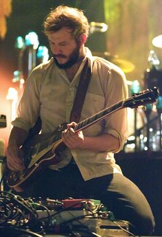 justin vernon |  enamoured with this man. If I went into the woods with him, I'd never come out.