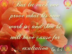 Galatians 6:4