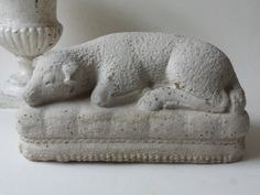 cement mourning lamb by unpotpourri on Etsy, $48.00