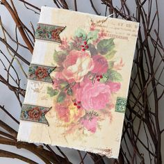 Learn how to create a custom romantic art journal that you can fill with all of your favorite art journaling techniques.