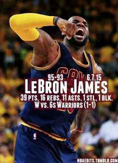 The King compiles a triple double in a stellar Game 2 as the Cavs take it in overtime without Kyrie. #2015Playoffs #TheFinals
