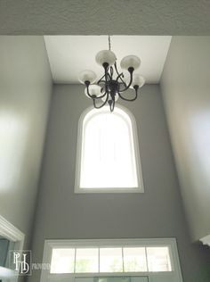 How to paint a two story foyer